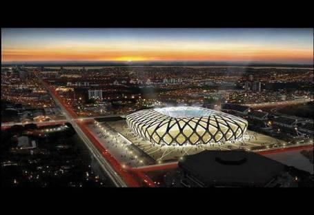 Vista del proyecto del estadio das Dunas, en Natal (Brasil) | EFE